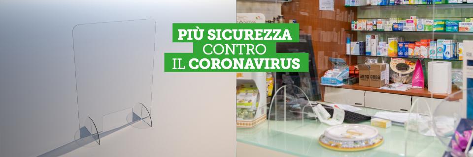 schermo di protezione per farmacie coronavirus