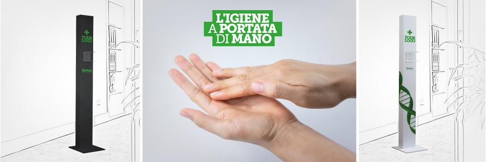 Dispenser igienizzante mani, dispositivi di prevenzione cornonavirus per negozi